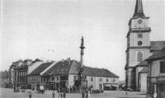 Panoramatický pohled naMasarykovo náměstí zroku 1904