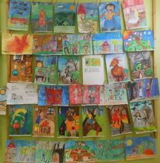Výstava prací zvýtvarné soutěže 'Obrázky zpohádek'